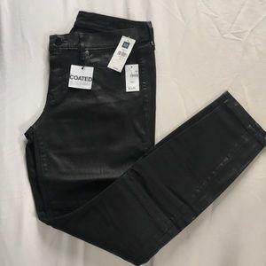 NWT GAP black coated jeans